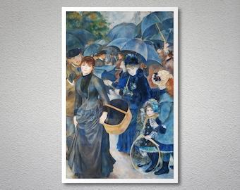 Umbrellas by Pierre Auguste Renoir - Poster Paper, Sticker or Canvas Print