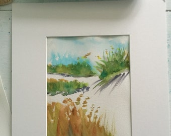 beach grass ~ original watercolor