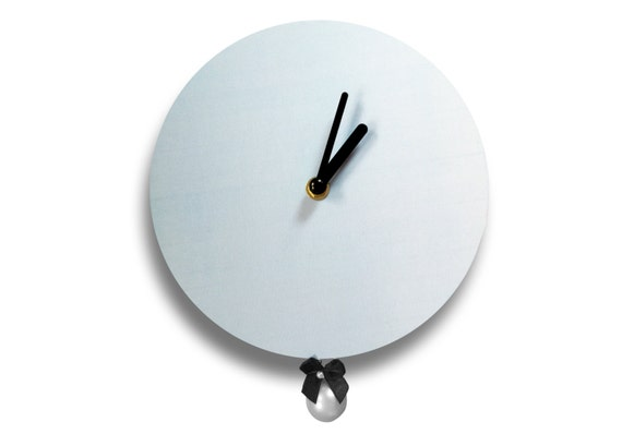 Faris by Hey Fishy,Premium ash blue Audrey designer wall clock