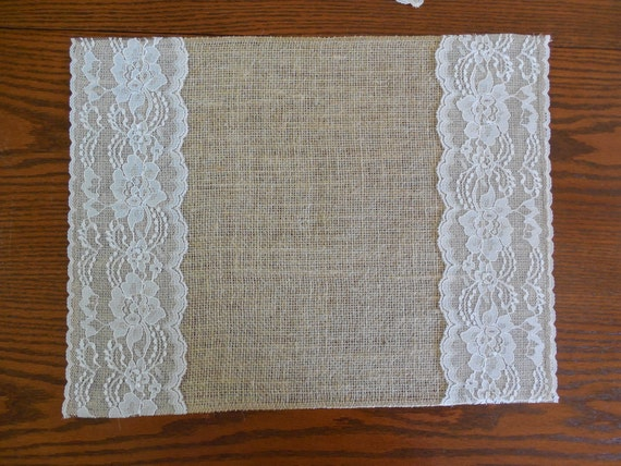 Burlap And Lace Place Mats Burlap Table Toppers Rustic Table