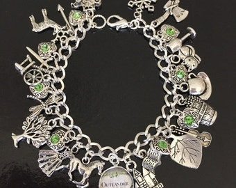 SALE Outlander Charm Bracelet, Diana Gabaldon, Tv show, book, novel
