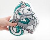 Haku Dragon Pillow Plushie, Dragon Plush Toy, Stuffed Animal, Spirited Away