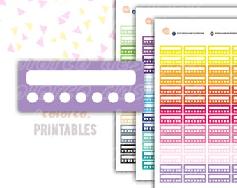 WEEKLY Habits Tracker Printable Planner Stickers Erin Condren Happy Planner Inkwell Plum Paper Instant Digital Download