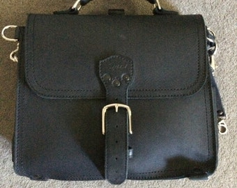Saddleback Medium Satchel Bag Purse Black Leather Hipster Bag