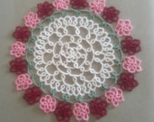 Ring of Flowers Hand Tatted Doily