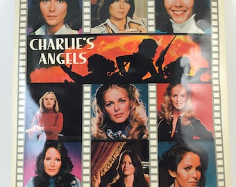 Charlies Angels cast sticker 8x10 Jaclyn Smith Cheryl Ladd Kate Jackson 70s tv show private Investigators