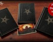 "Replica from the Ninth Gate film - BLACK VERSION - 3 books ""Ninth Gates to the kingdom of shadows"" - Balkan, Fargas and Kessler + postcard"