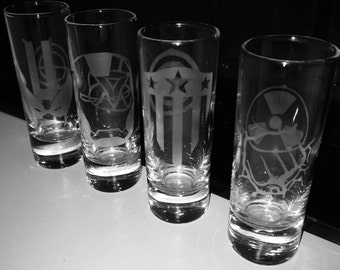 Marvel Avengers Etched Shot Glasses