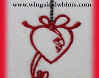 Heart Drop Digitized Machine Embroidery Design  Heart
