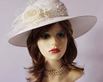 Authentic vintage classic hat, races, church, Ascot hat, wedding hat, mother of the bride hat