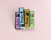 Literature Ladies Enamel Pin -  Book Pin Badge - Jane Austen, Bronte, Sylvia Plath, Virginia Woolf - Gift for Book Lover - Reading Pin