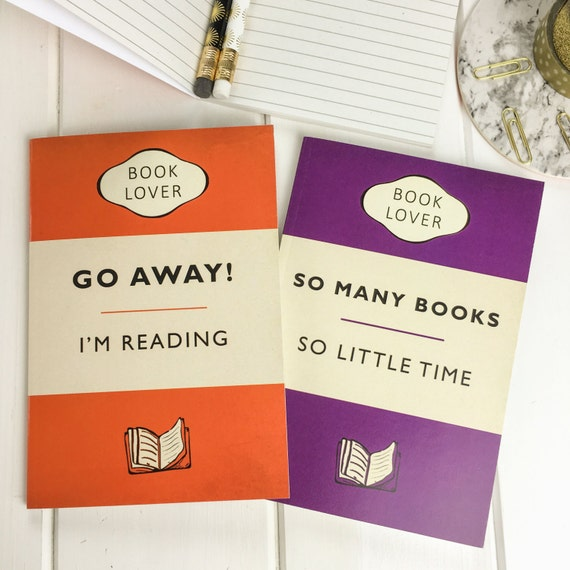 Book Lover A6 Notebook Set - Gift for readers, writers and book lover - Pocket Notebooks