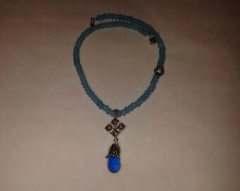 Shades of blue-Winter Wonderland Necklace