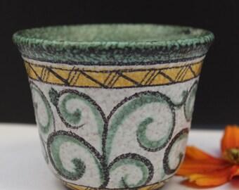 "Ruscha ""florenz""   planter/ catchpot  in Fat Lava West German pottery 50's"