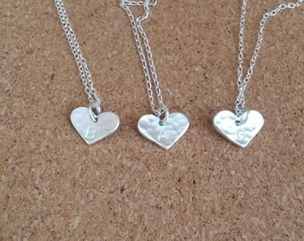 Bridesmaid Gift, Heart Necklace, Name Necklace, Wedding Gift, Thank you gift, Initial pendant