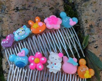 Kawaii Hello Kitty / Bunny hair clips