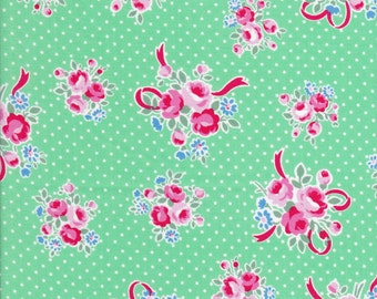 Polka Dots - Rose Fabric - Green Fabric - Lecien Flower Sugar - Bow Fabric - Sweet Carnival Collection - 31378 60