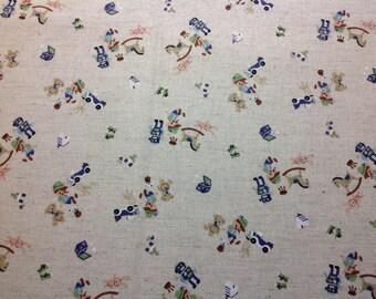 Pinocchio Trefle Linen/Canvas - half yard