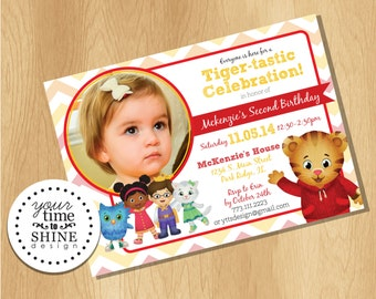 Digital File Only - Daniel Tiger Invitation with Picture