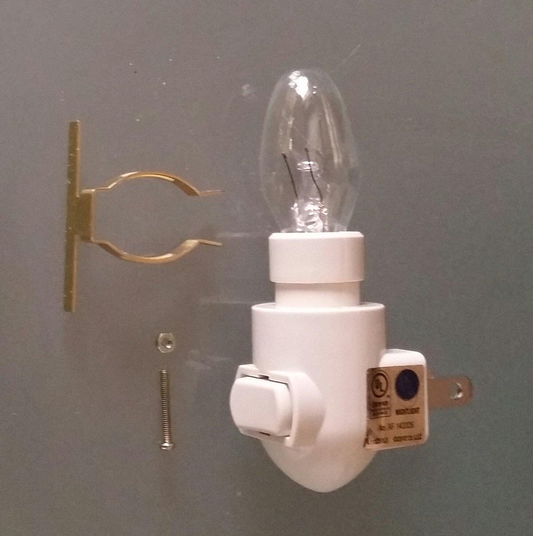 Night Light Kit Warm Ivory Standard DIY 3.5 Lamp Plug In