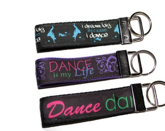 Dance key chains, key fobs for dancers.    Keychains & Lanyards/ Key-fobs / Key Keepers