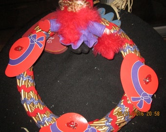 Ruby and the Red Hat Society Wreath