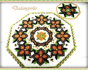 pattern bead weaving coaster and doily welcome
