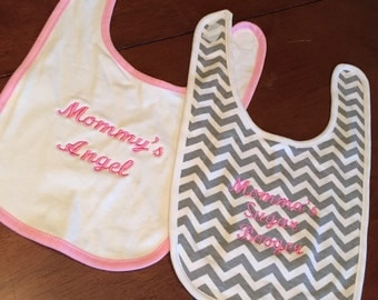 Embroiderd Bibs