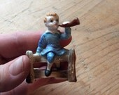 Little Boy Blue Figurine Fine Porcelain Vintage