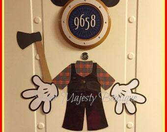 Mickey Mouse Alaska Lumberjack Body Part Magnet for Cruise Door