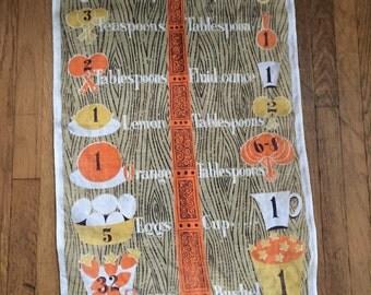 "1950's Lois Long ""Equivalents"" tea towel"