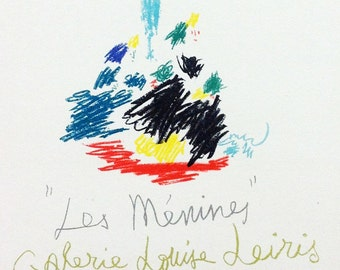 """Picasso 101 """"Les menines"""" printed 1959 Mourlot Art in posters"""