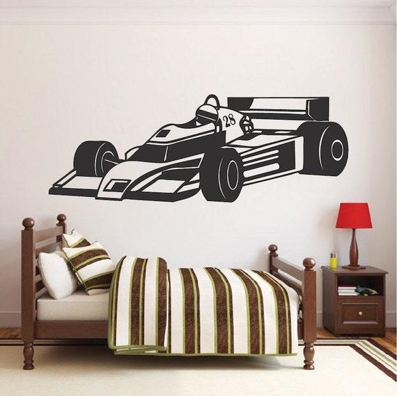 race car wall decal race car wall decor racing wall vinyl kids room