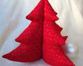 Christmas Tree - Bright Red, Green Holly, Gold Berries- Large 23 cm