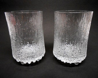"Iittala Ultima Thule 5"" Water Glasses Tapio Wirkkala Finland Qty 2"