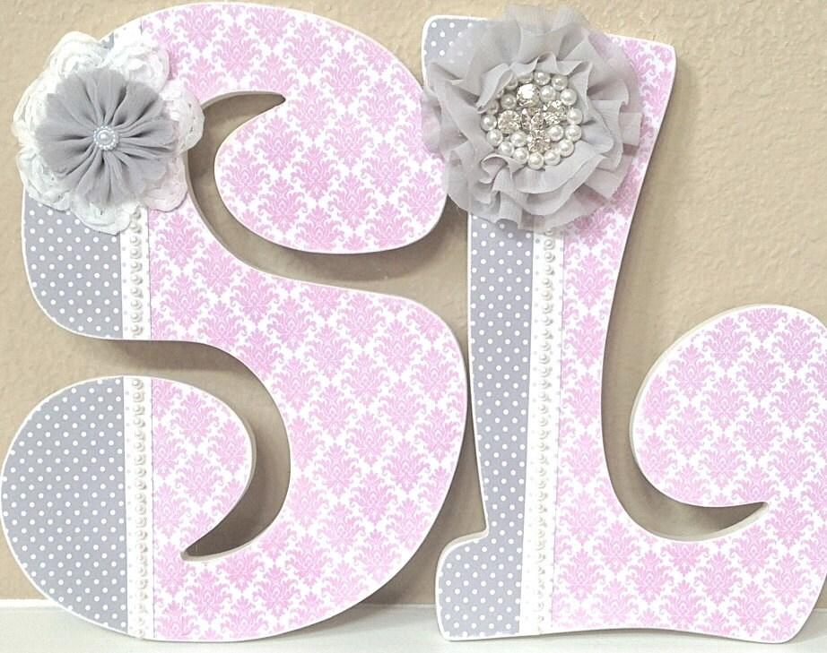 Custom nursery letters baby girl nursery decor baby name for Baby name letters decoration