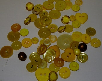 YELLOW Button Lot