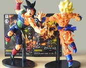 2 style 1pcs/ 23cm Dragon Ball Z Resurrection F Super Saiyan Son Gokou Bardock PVC Action Figure Collectible Model Doll Toys with Gifts Box