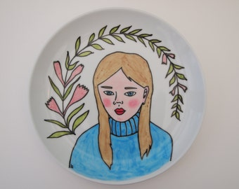 Flowers - 7.5 inch Illustrated Plate