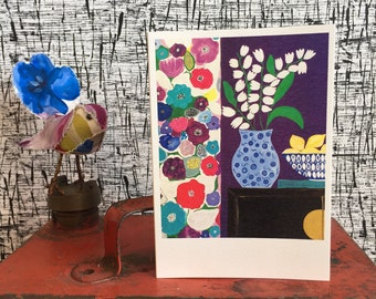 Art Card Set Cards Greeting Cards Fine art card Gift Card Flower Cards Spring Card Blank Card