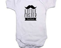 Little Mr Perfect 100% Cotton Baby Vest 0-3, 3-6, 6-9, 9-12, 12-18