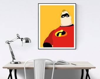 Mr. Incredible Minimalist Poster