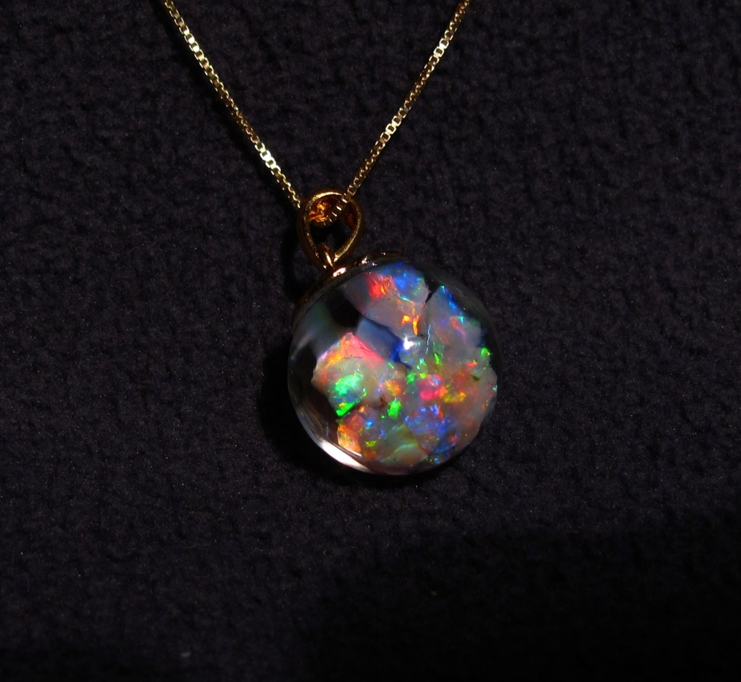 floating opals necklace featuring 4carats lightning by