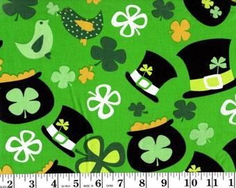 25 Inches, Green Clovers on Diamonds Design Brother Sister Design B39-FTPOG!-P2