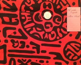 Wamsutta OTC Red 90s print 2 yds