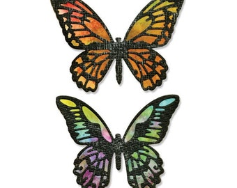 Sizzix - Tim Holtz Alterations - Thinlits - Detailed Butterflies Die Set 4 Pack