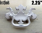 7 AVAIL - 1 Chippendale Swing Handles Painted White Shabby Chic Dresser Drawer Pulls Furniture Cabinet Vintage 2.25 inch DETAILS BELOW