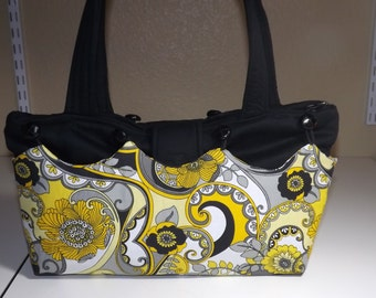 Yellow and Black Purse Skirt with Base Bag