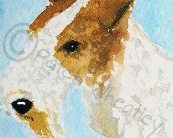 Wire Fox Terrier Dog Art Print