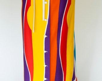 Vintage Maxi Skirt/Festival Skirt/Mod Maxi/Mod Skirt/By David Smith